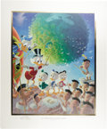 "Original Comic Art:Miscellaneous, Carl Barks - ""An Astronomical Predicament"" Gold Plate EditionLimited Signed and Numbered Lithograph, 81/100 (Another Rainbow,..."