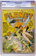 Golden Age (1938-1955):Science Fiction, Planet Comics #15 (Fiction House, 1941) CGC VG 4.0 Cream tooff-white pages....