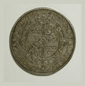 German States:Augsburg, German States: Augsburg. Gustav Adolph Taler 1632, KM-A68, D-4543,toned XF details but three large cross-shaped scratches in theobverse f...
