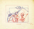 "Animation Art:Production Drawing, ""Mother Goose Goes Hollywood"" Storyboard Drawing Original Art(Disney, 1938)...."
