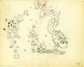 "Animation Art:Production Drawing, ""Water Babies"" Animation Production Drawing Original Art (Disney,1935)...."