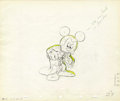 "Animation Art:Production Drawing, Mickey Mouse ""Fantasia"" Animation Production Drawing Original Art(Disney, 1940)...."