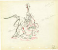 "Animation Art:Production Drawing, ""Woodland Cafe"" Animation Production Drawing Original Art (Disney,1937). ... (Total: 2)"