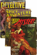 Pulps:Miscellaneous, Assorted Spicy Pulps Group (Various Publishers, 1936-39) Condition: Average GD/VG.... (Total: 3)