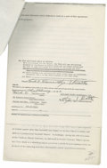 Autographs:Others, 1977 Frank Tanana Double-Signed Contract. Here we offer a player contract dating from 1977 which secures the services of th...