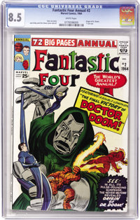 Fantastic Four Annual #2 (Marvel, 1964) CGC VF+ 8.5 White pages