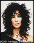 Autographs, Cher Signed 8 x 10 Glossy Photograph