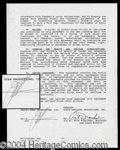 Autographs, Joan Collins Rare Signed Dynasty Contract