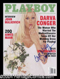 Autographs, Darva Conger Signed August 2000 Playboy