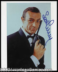 Autographs, Sean Connery Signed 8 x 10 Photo as Bond