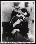 Autographs, Jackie Coogan Signed Photo with Chaplin