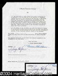 Autographs, Gary Cooper Signed Contract Agreement