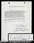 Autographs, Lou Costello Signed Document