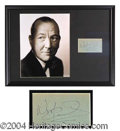Autographs, Noel Coward Framed Signature Display