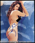 Autographs, Cindy Crawford Signed Playboy Photograph