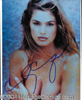 Autographs, Cindy Crawford Busty Signed 8 x 10 Photo