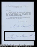 Autographs, Linda Darnell Typed Letter Signed