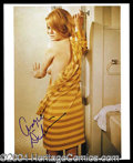 Autographs, Angie Dickinson Sexy 8 x 10 Signed Photo