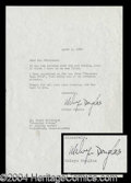 Autographs, Melvyn Douglas Typed Letter Signed