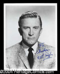 Autographs, Kirk Douglas Signed 8 x 10 Portrait Photo