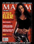 Autographs, Eliza Dushku Signed May 2001 Maxim Magazine
