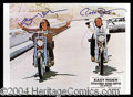 Autographs, Easy Rider Hopper & Fonda Dual Signed Photo