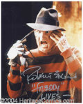 Autographs, Robert Englund Signed Freddy Photograph