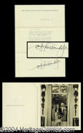 Autographs, Douglas Fairbanks Signed Letter & Card Archive!