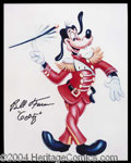 Autographs, Bill Farmer Signed 8 x 10 Photo of Goofy