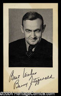 Autographs, Barry Fitzgerald Signed Photograph