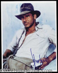 Autographs, Harrison Ford Signed Color 8 x 10 Photo