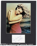 Autographs, Jodie Foster Matted Signature Display
