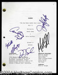 Autographs, Friends In-Person Signed Shooting Script