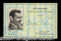 Autographs, Clark Gable Nice Signed Autograph Card