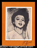 Autographs, Judy Garland Vintage Signed Concert Program
