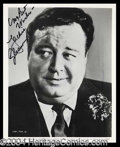 Autographs, Jackie Gleason Signed 8 x 10 Photograph