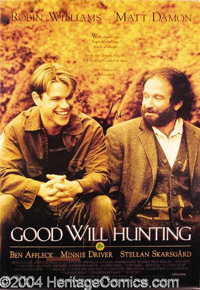 Good Will Hunting Cast Signed Poster - Original 27 x 40 movie poster, featuring a large image of Oscar winners Matt Damo...