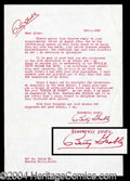 Autographs, Betty Grable Typed Letter Signed