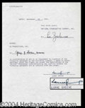 Autographs, Lorne Greene Signed Contract Agreement