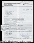 Autographs, Mark Hamill Signed Contract