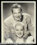 Autographs, Phil Harris & Alice Faye Dual Signed Photo