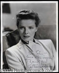 Autographs, Katharine Hepburn Rare Signed 8 x 10 Photo