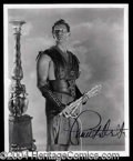 Autographs, Charlton Heston Ben-Hur Signed 8 x 10 Photo
