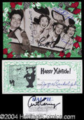 Autographs, The Honeymooners Signed Lot