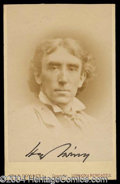 Autographs, Henry Irving Signed CDV Photograph