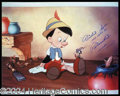 Autographs, Dickie Jones Signed Pinocchio Photo