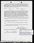 Autographs, Tommy Lee Jones Signed Contract