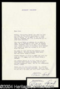 Autographs, Alan Ladd Typed Letter Signed