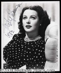 Autographs, Hedy Lamarr Signed 8 x 10 Photo