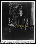 Autographs, Christopher Lee Signed Dracula Photo